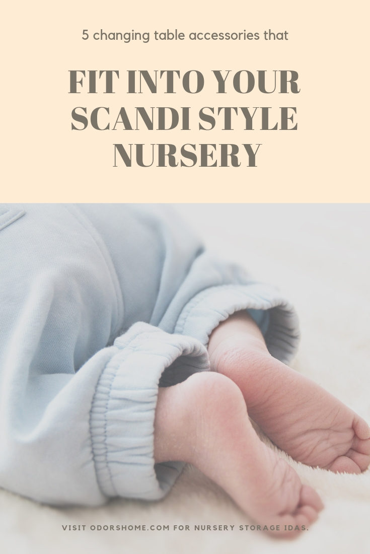 5 changing table accessories that fit into your Scandi style nursery